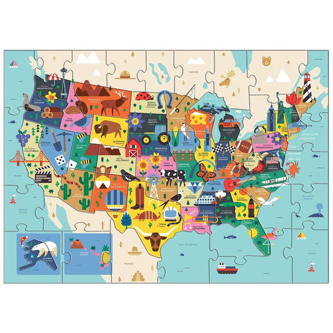 Map of the U.S.A. Geography Puzzle (70 Piece)