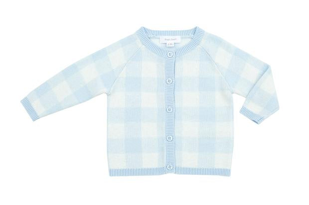 Gingham Cardigan - Blue