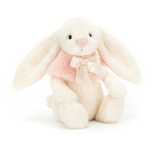 Bashful Cream Snow Bunny - Small