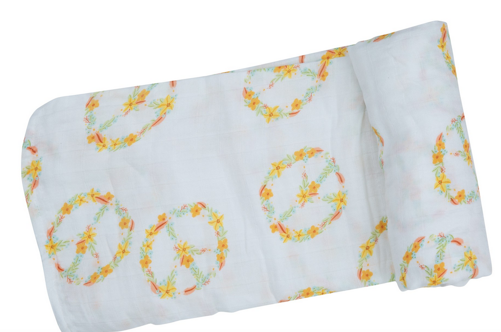 Flower Peace Swaddle Blanket