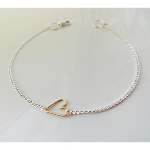 Teenie Bracelet - Gold Heart