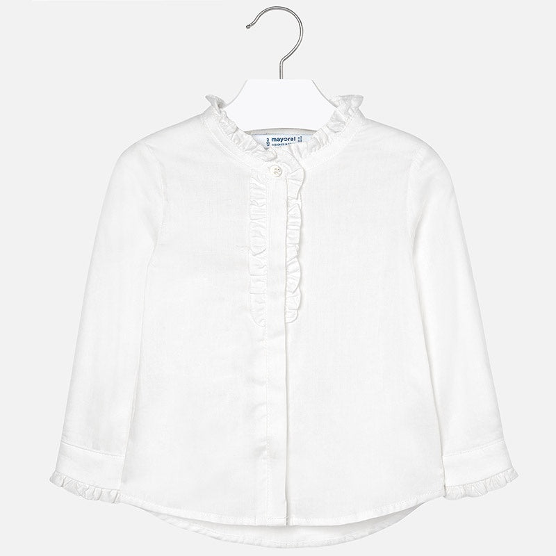 Ruffled Placket Blouse