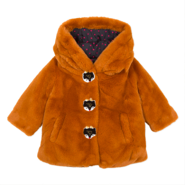 Manteau Faux Fur Coat - Camel