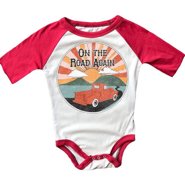 On The Road Again Raglan Onesie