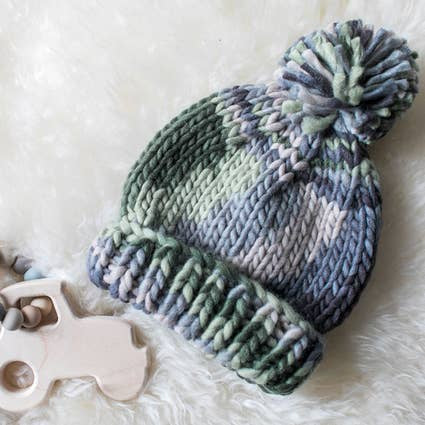 Camo Army Green Knit Beanie