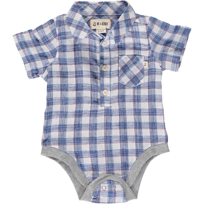 Helford Collared Onesie - Madras Plaid