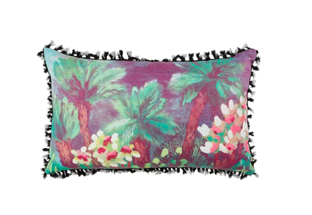 "Tree Fern Pillow with Insert - 18"" x 31"""
