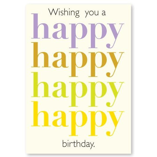 Happy Happy Birthday Enclosure Card