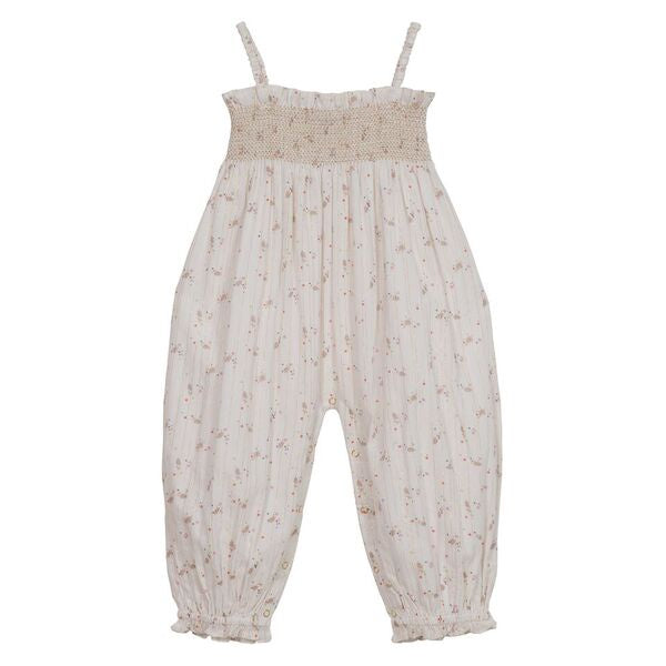 Citrine Embroidered Smock Jumpsuit - Exotic Ditsy