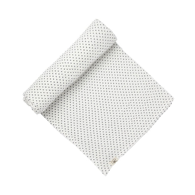 Pin Dot Swaddle Blanket - Navy