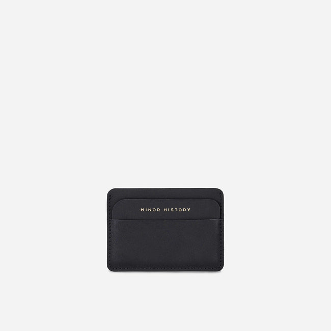 Card Wallet - Vegetable Tanned Black