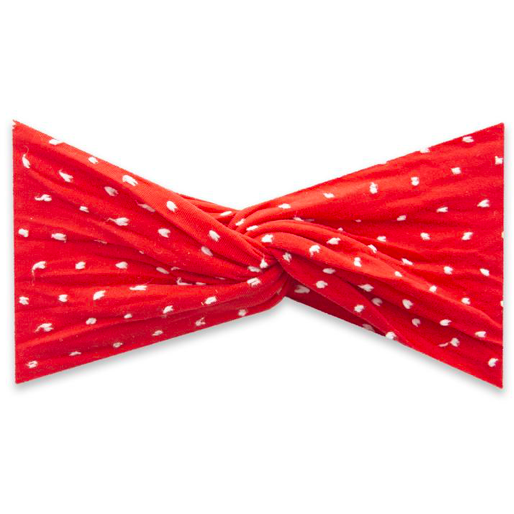 Twist Headband - Shabby Cherry Dot