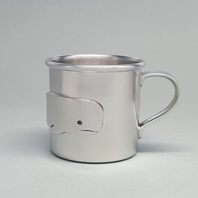 Whale Baby Cup - Pewter