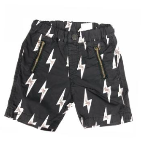 Cotton Typewriter Cloth Shorts - Black