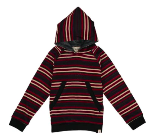 Multi Stripe Hooded Top