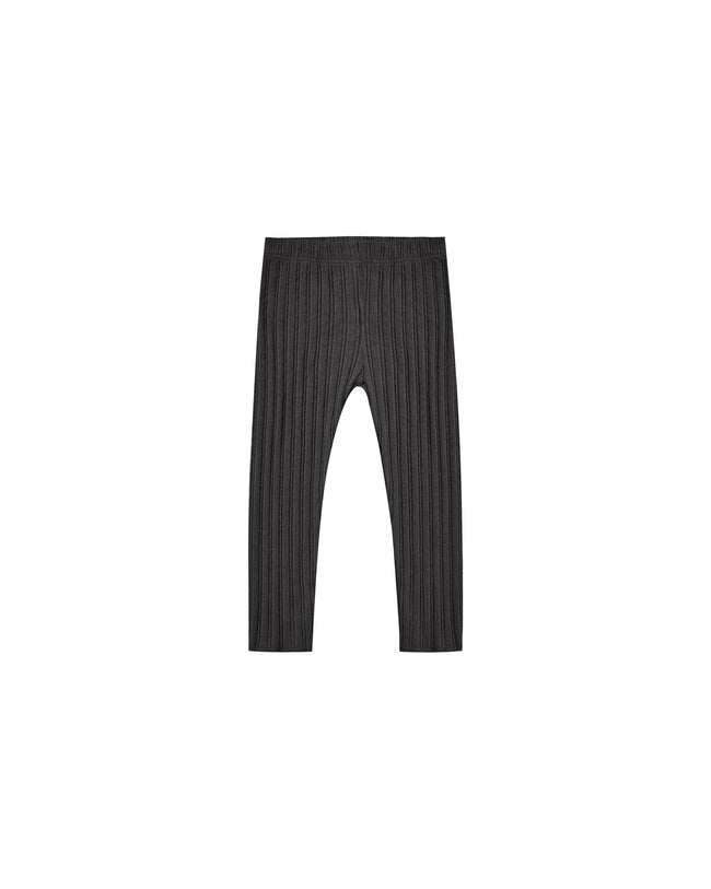 Rib Knit Legging - Black