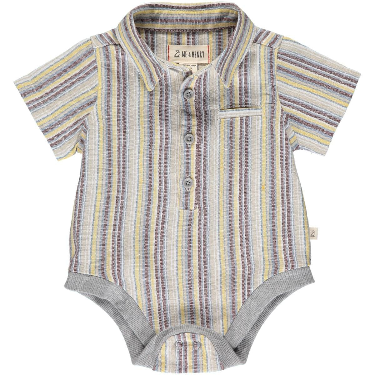 Helford Collared Onesie - Stripe