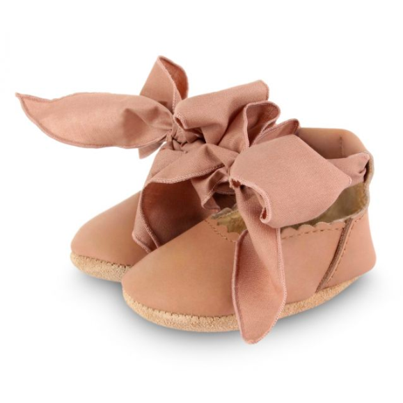Lieve Lining Flats - Praline Leather & Mocha Cotton