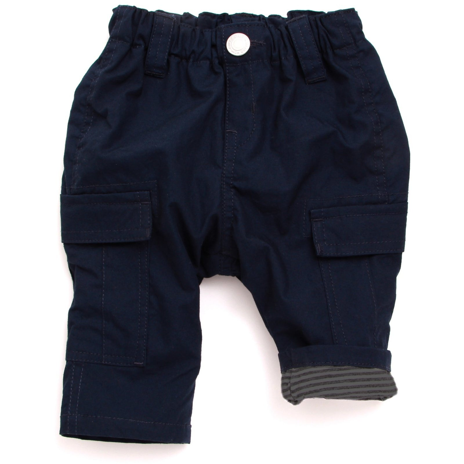 Stripe Lined Cargo Pants - Navy