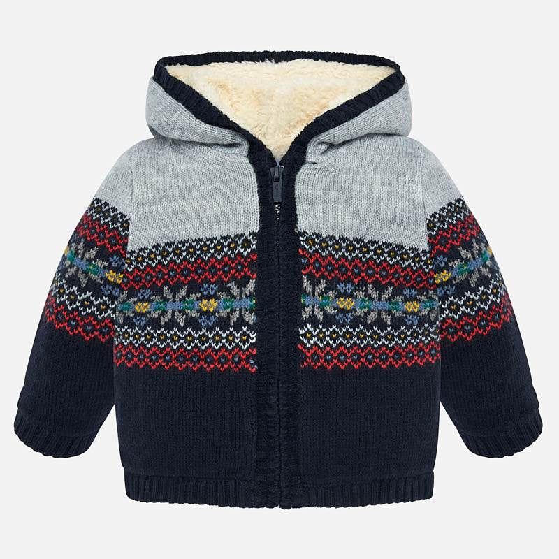 9706542c26 Jacquard Knit Pullover Hoodie Jacket