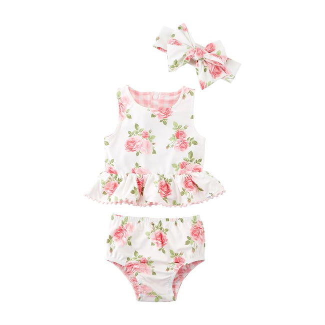 Roses Revesible Swimsuit Set