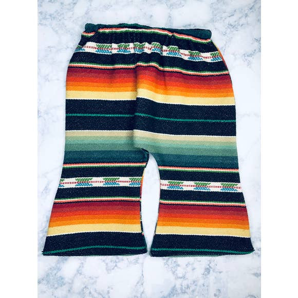 Serape Bell Bottoms - Black Flannel