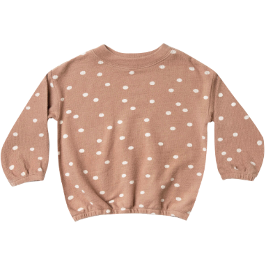 Pullover Sweater - Truffle Polka Dot
