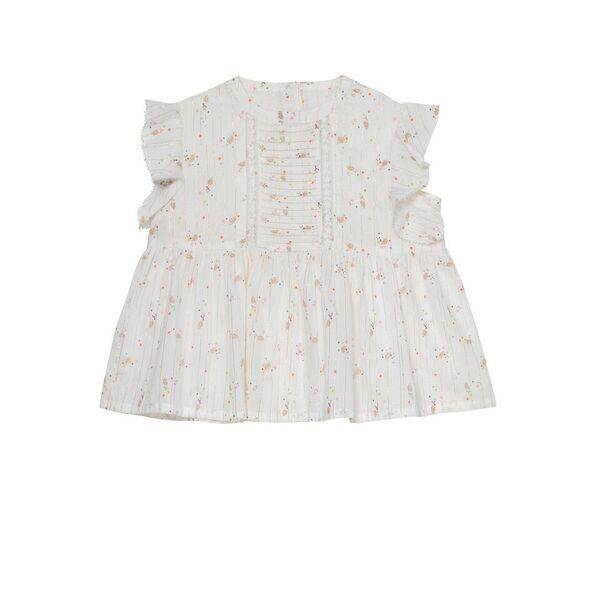 Marigold Frill Sleeve Peplum Top & Bloomer - Exotic