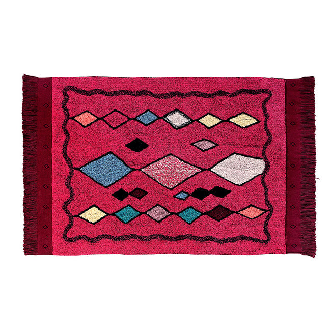 Assa Fuschia Moroccan Washable Rug