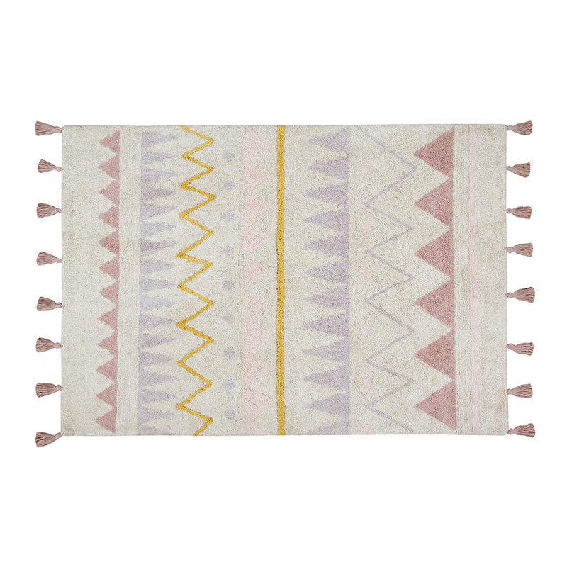 Azteca Natural Vintage Nude Washable Rug