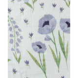 Deluxe Muslin Swaddle Blanket - Blue Windflower