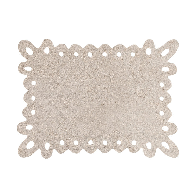 Lace Beige Washable Rug