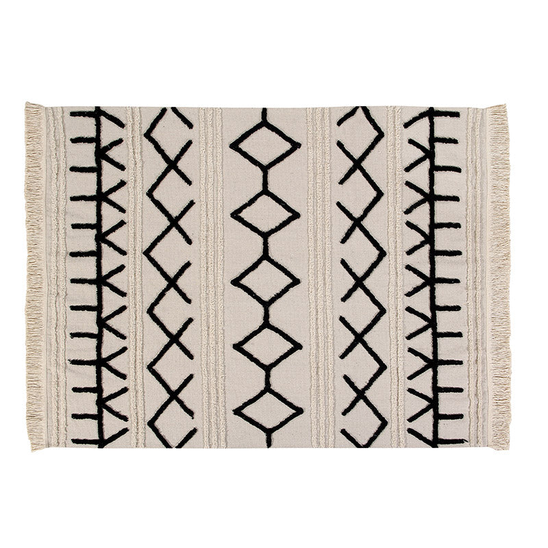 Bereber Canvas Moroccan Washable Rug