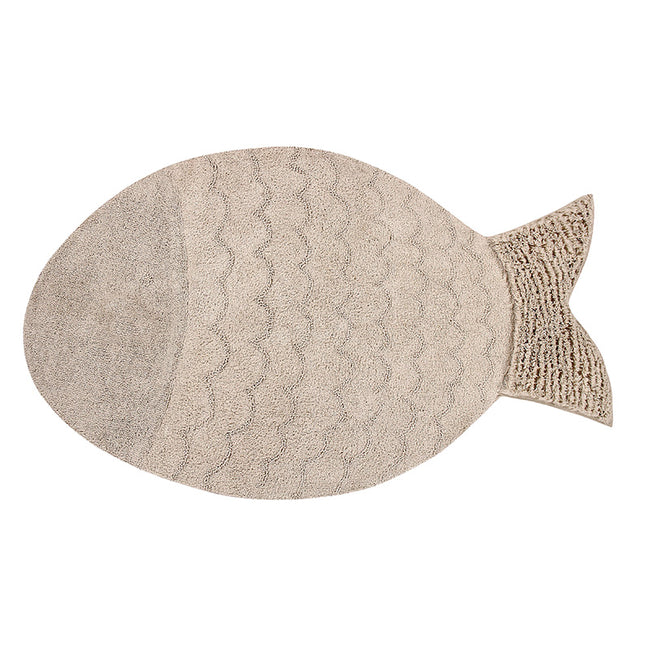 Big Fish Natural Washable Rug