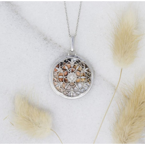 Birdie Locket Necklace - Sterling Silver