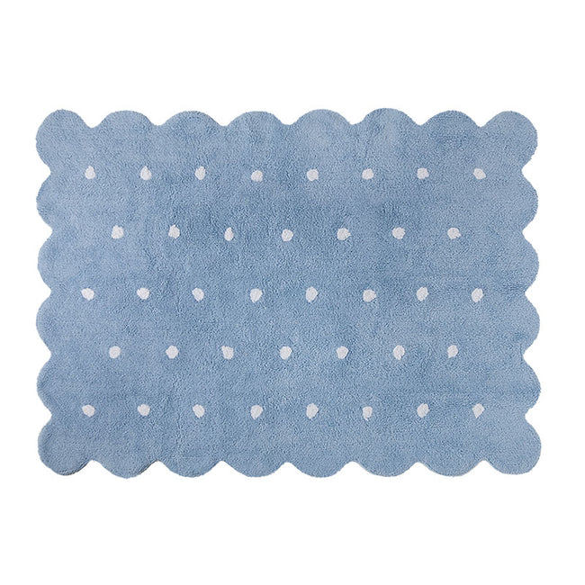 Blue Biscuit Washable Rug