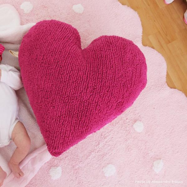 Pink Biscuit Washable Rug