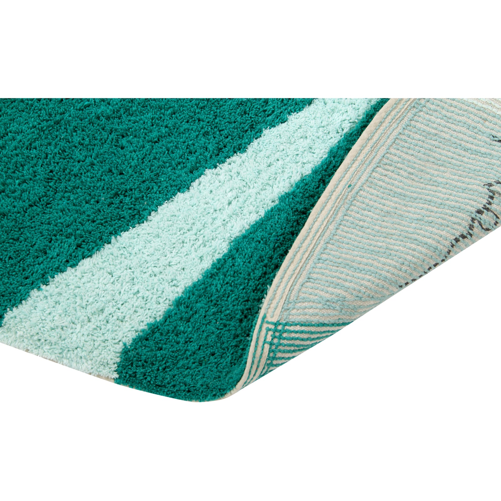 Geometric Emerald Washable Rug