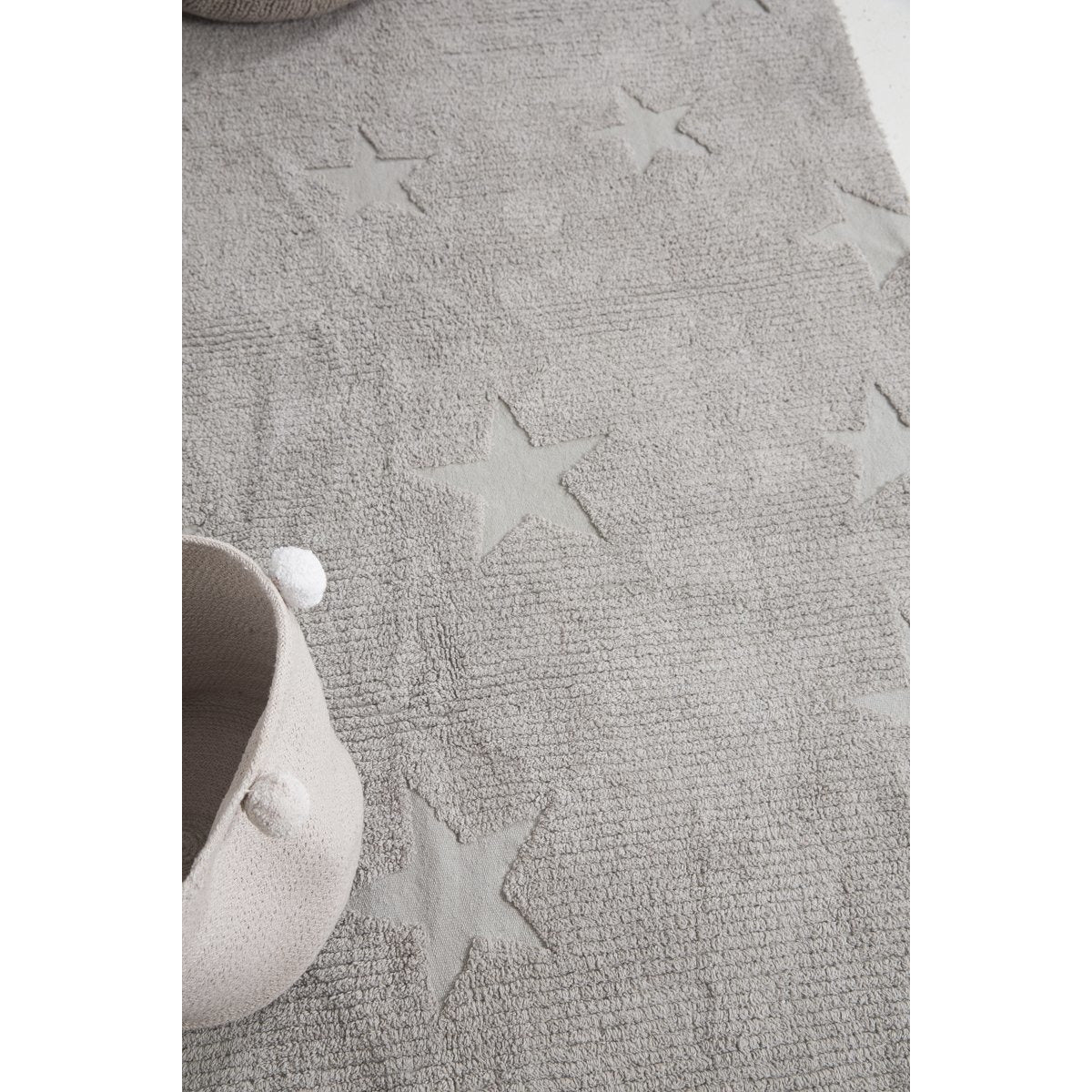 Hippy Stars Grey Washable Rug