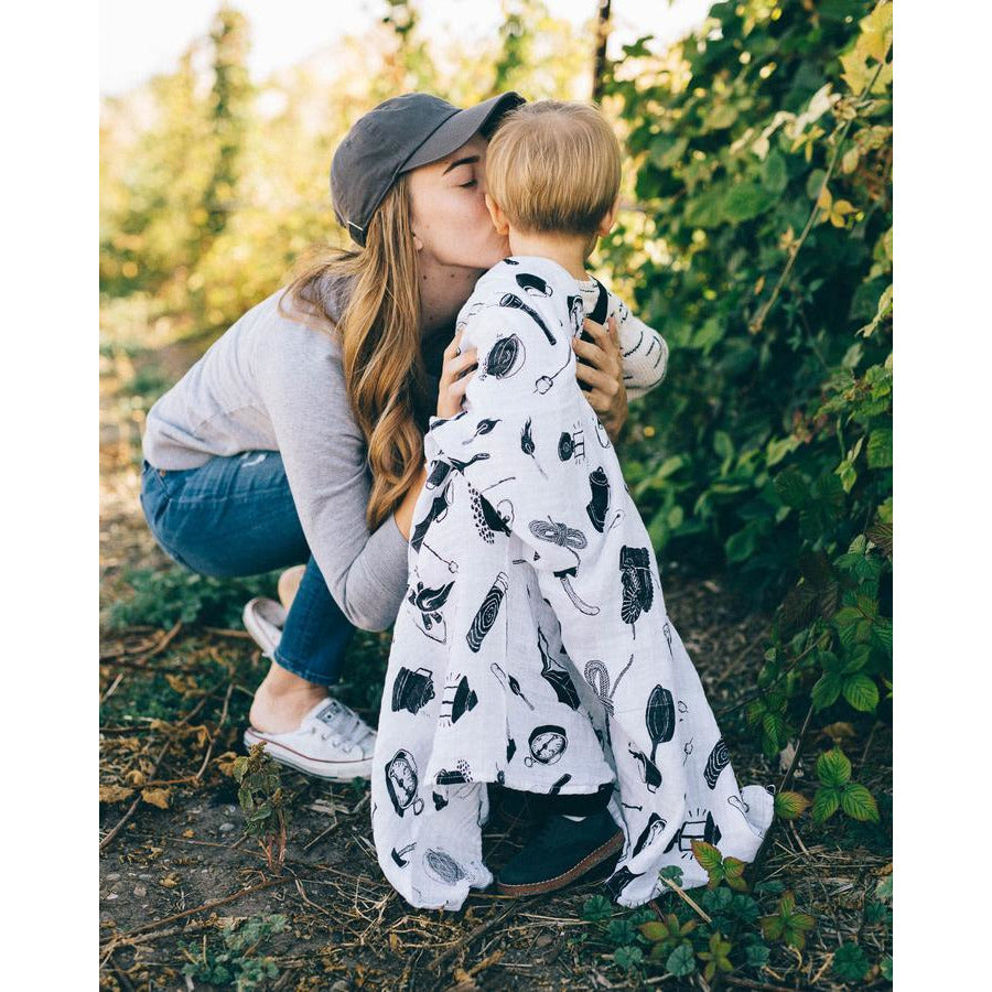 Cotton Muslin Swaddle Blanket - Camp Gear