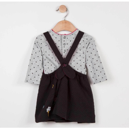 Pinafore Dress and Dot Tee Set