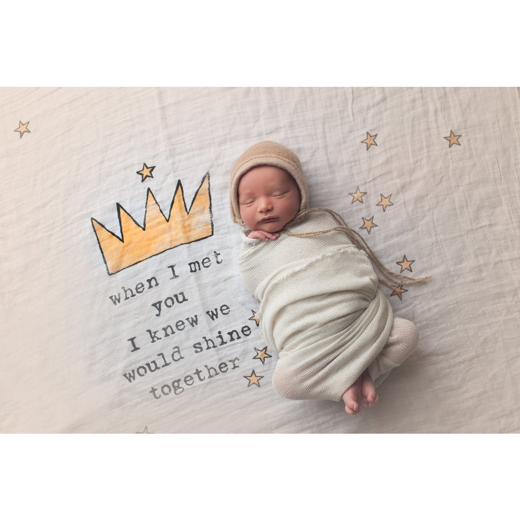 Crown Swaddle Blanket