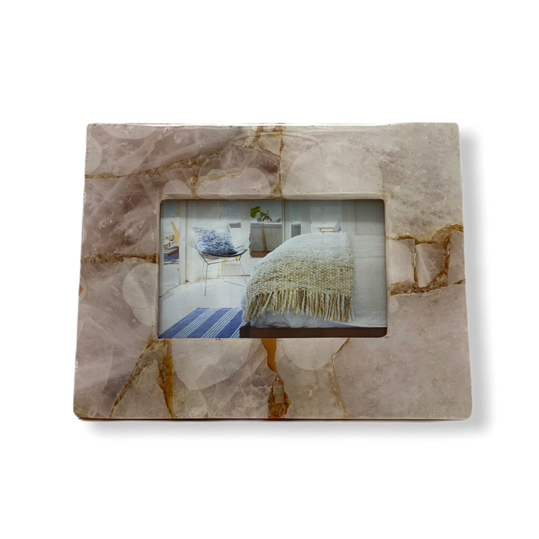 "Pink Quartz Photo Frame - 9"" x 7"""