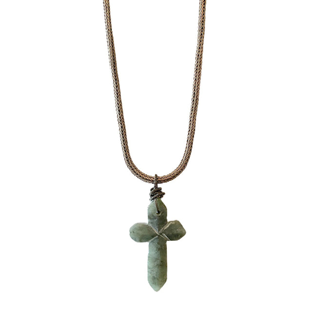 Jade Cross Necklace