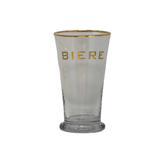 Biere Hi Ball Glass with Gold Rim