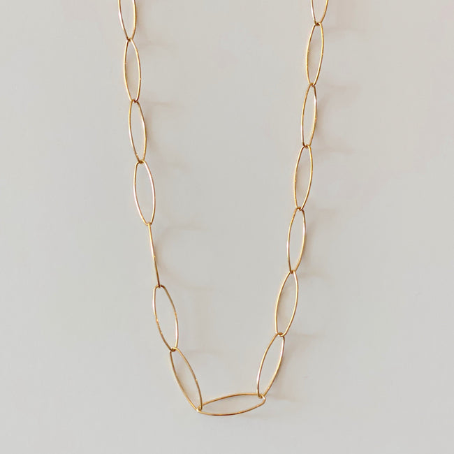 "Link Necklace - 14"" Gold"