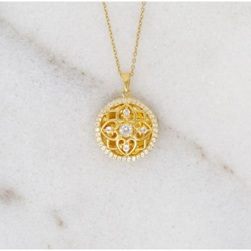 Elsie Locket Necklace - Yellow Gold