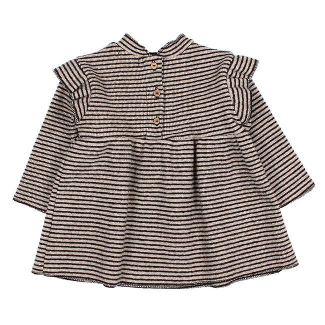 Bibi Dress - Black & Natural Stripe
