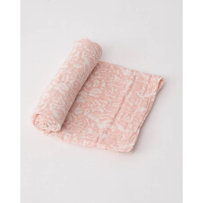 Cotton Muslin Swaddle Blanket - Pink Fossil