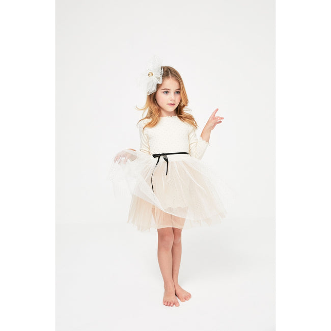 Dot Sha Tutu Dress- Cream